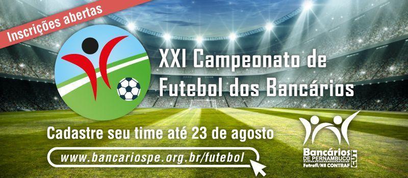 Inscrições abertas para XXI Campeonato de Futebol dos Bancários